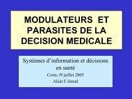 Les modulateurs et parasites de la décision médicale
