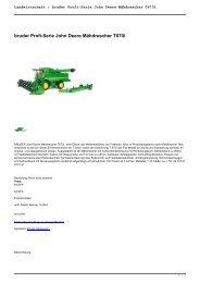 Landwirtschaft : bruder Profi-Serie John Deere Mähdrescher T670i