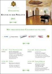 Konzerte 2013 - in Zwiefalten