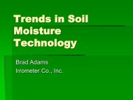 Trends in Soil Moisture Technology- Brad Adams ... - ICWT