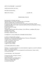 anno scolastico 2011/2012 materia:sociologia prof ... - Licei Manzoni