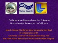 Collaborative Research on the Future of Groundwater ... - ICWT