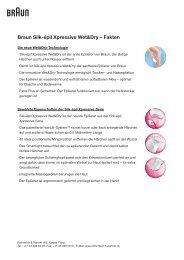 Braun Silk-épil Xpressive Wet&Dry – Fakten - by rp-press.com