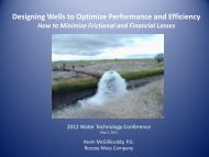 Designing Wells to Optimize Performance and Efficiency - ICWT