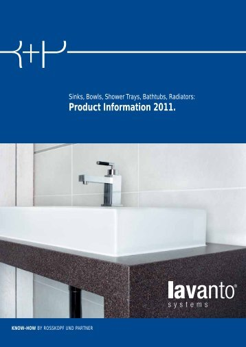 Sinks, Bowls, Shower Trays, Bathtubs, Radiators - Rosskopf ...