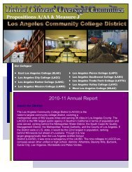 2010-11 Annual Report - LACCD Builds Green