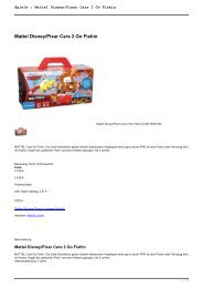 Spiele : Mattel Disney/Pixar Cars 2 Go Fishin
