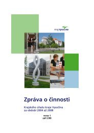 Zpráva o činnosti - Extranet - Kraj Vysočina