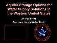 Andrew Stone American Ground Water Trust - ICWT