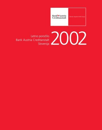 Annual Report 2002 - UniCredit Banka Slovenija dd