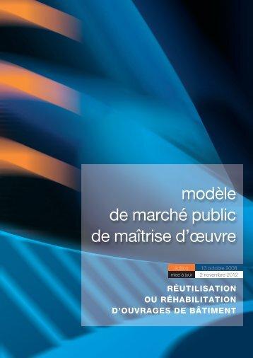 modèle de marché public de maîtrise d'œuvre - Syntec ingenierie