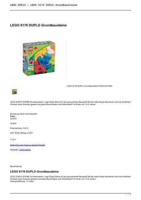 LEGO DUPLO : LEGO 6176  DUPLO Grundbausteine