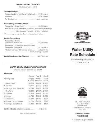 Updated January, 2013 - Peterborough Utilities