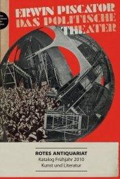 ROTES ANTIQUARIAT Katalog Frühjahr 2010 Kunst und Literatur
