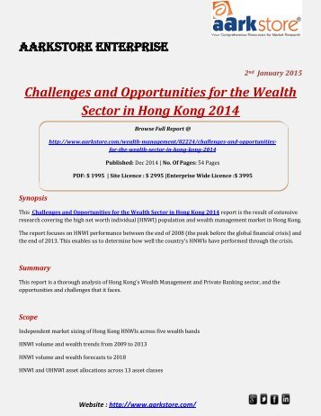 Aarkstore - Challenges and Opportunities for the Wealth Sector in Hong Kong 2014