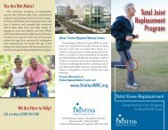 Total Knee Replacement Brochure - Trinitas Hospital
