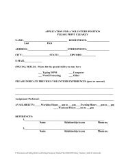 application for a volunteer position please print ... - Trinitas Hospital