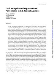 Goal Ambiguity and Organizational Performance in U.S. ... - ppmrn