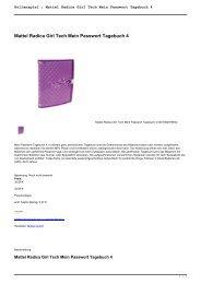 Rollenspiel : Mattel Radica Girl Tech Mein Passwort Tagebuch 4