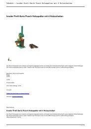 Zubehör : bruder Profi-Serie Posch Holzspalter mit 4 Holzscheiten