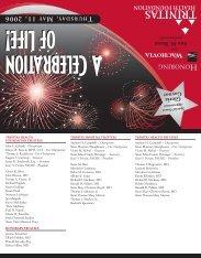 Gala invite 2006 - Trinitas Hospital