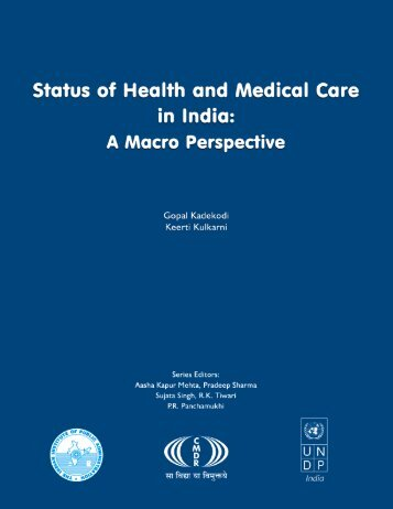 Status of Health and Medical Care in India - Indian Institute of Public ...