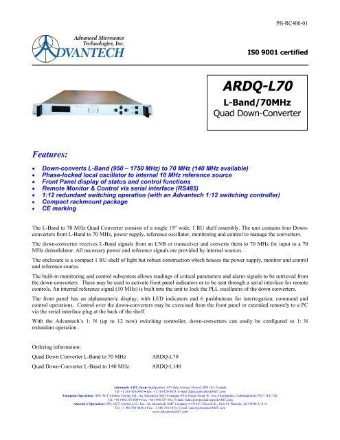 L-Band Indoor Transceiver - Advantech