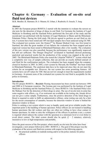 Chapter 6: Germany - ROSITA - ROadSIde Testing Assessment