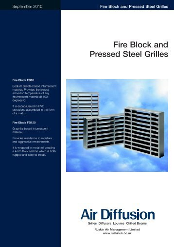 Pressed Steel Grilles and Fire Blocks - Air Diffusion