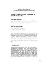 Predictive Control for Fuel Consumption of Hybrid Solar Vehicles