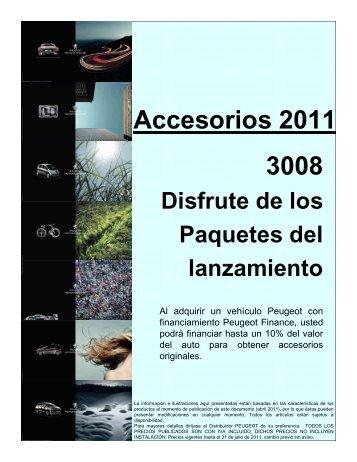 Catalogo Accesorios 3008 Precios y Baremo