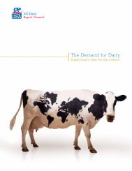 The Demand for Dairy - US Dairy Export Council