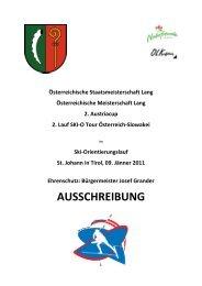 AUSSCHREIBUNG - Ski-O Tour 2011
