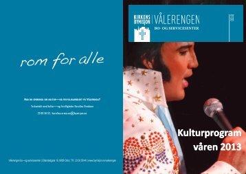 Kulturprogram våren 2013 - Kirkens Bymisjon