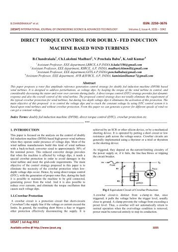 direct torque control for doubly- fed induction machine ... - IJESAT