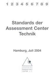 Standards der Assessment Center Technik - Petra Stella Ebert