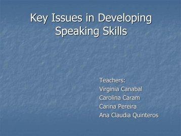Issues in Teaching Oral Communication - Uruguay Educa