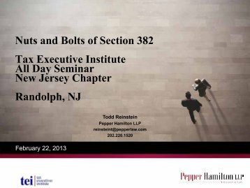View the PDF version - Pepper Hamilton LLP