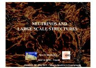 NEUTRINOS AND LARGE SCALE STRUCTURES - Infn