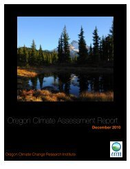 Oregon Climate Assessment Report - Climate Adaptation ...