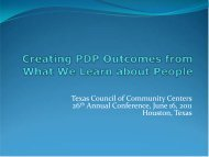 Creating PDP Outcomes from What We Learn about People
