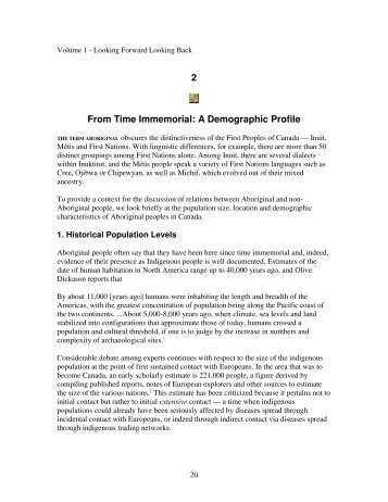2 From Time Immemorial: A Demographic Profile - Christian ...