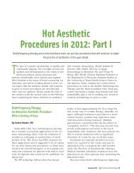 Hot Aesthetic Procedures in 2012: Part I - Med Tech Solutions
