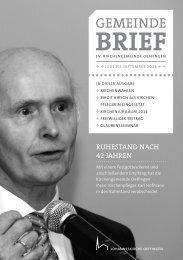 Gemeindebrief Juni - September 2013 - Evangelische ...