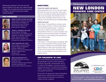 Click here to see our brochure - New London Hospital