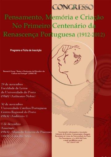 Programa e Ficha de Inscrição - Instituto de Filosofia - Universidade ...