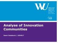 Analyse of Innovation Communities