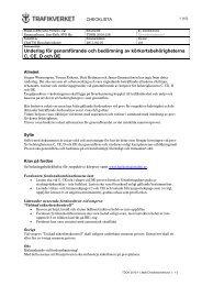 Underlag för genomförande och bedömning av ...