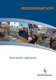 Modernisation - National Program for Sustainable Irrigation