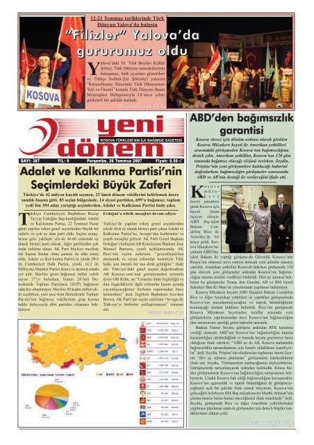 Peraÿembe 26 Temmuz 2007 Kosova Prizrenliler Ka Lta R Ve